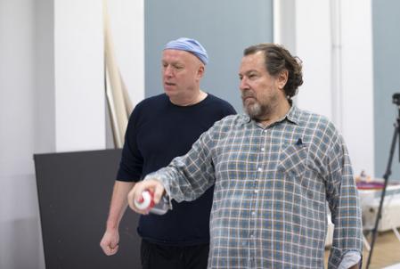 Julian Schnabel und Jiří Georg Dokoupil