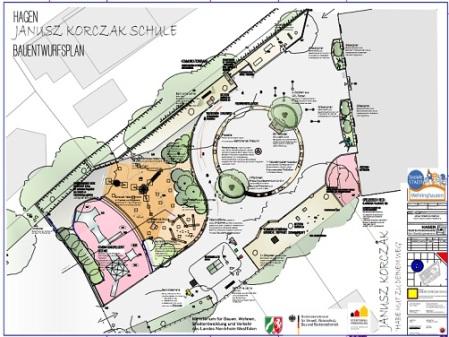 Plan-Schulhof-Janusz-Korczak-Schule